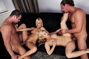Hot Foursome Porn Pictures
